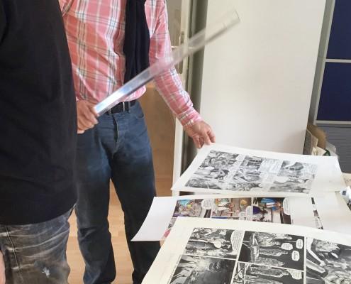 Préparation de l'exposition Goossens