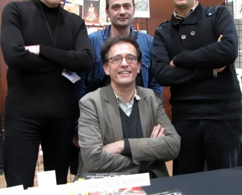 L'éditeur Philippe Morin sur le stand de Stripologie.com