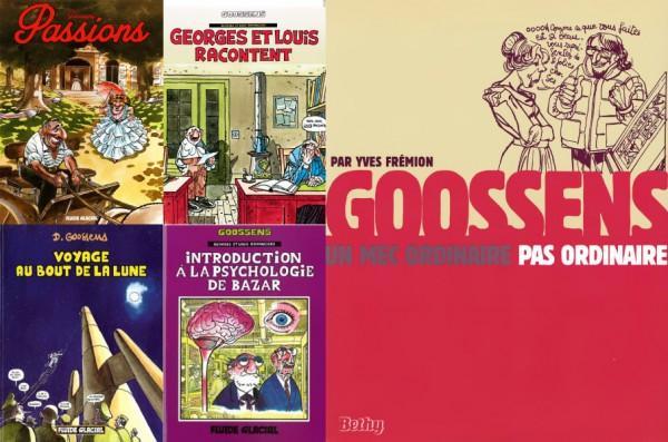 Quelques livres de et sur Daniel Goossens.