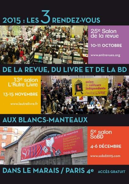 Automne culturel dans le Paris historique : le SoBD, le Salon de la Revue et L'Autre livre : 3 événements culturels aux Blancs Manteaux.