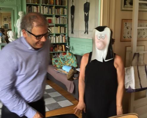 Chez Florence Cestac pour le SoBD 2016