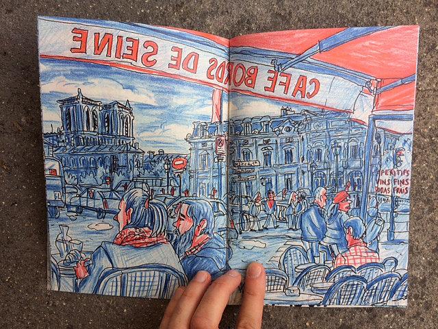 Carnet Rouge et Bleu, Illustration, Laurent Lolmède