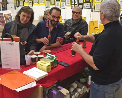 2016-12-01 Installation et exposants - Lisa, Loïc, PMJ, Christine et Mariano
