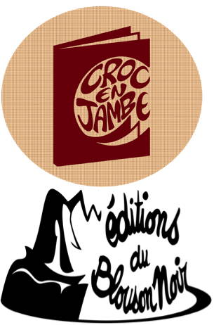 LOGO Croc en Jambe Blouson Noir