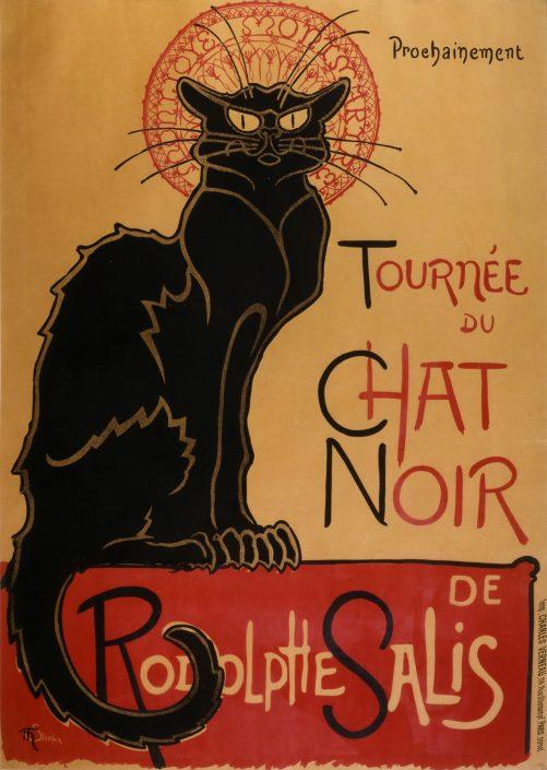 Steinlen, Tournée du chat noir (1886)