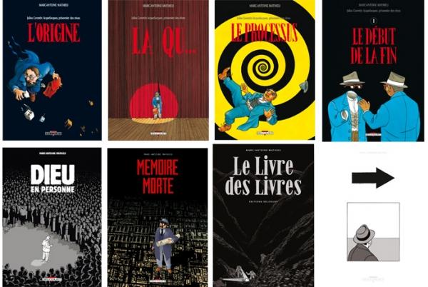 Quelques couvertures de Marc-Antoine Mathieu