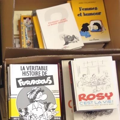 Cartons de livres sur la bande dessinée