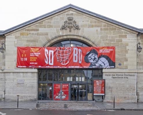 SoBD 2018 : façade de la Halle des Blancs Manteaux