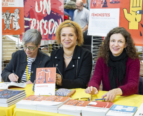 Jeanne Puchol, Marie Gloris Bardiaux Vaiente et Valerie Lawson sur le SoBD 2018
