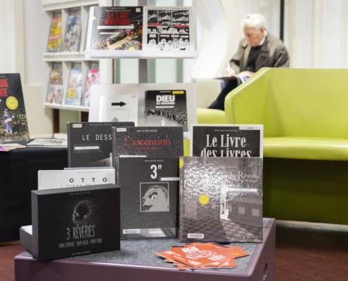 Corner SoBD Marc-Antoine Mathieu à la Bibliothèque Arthur Rimbaud