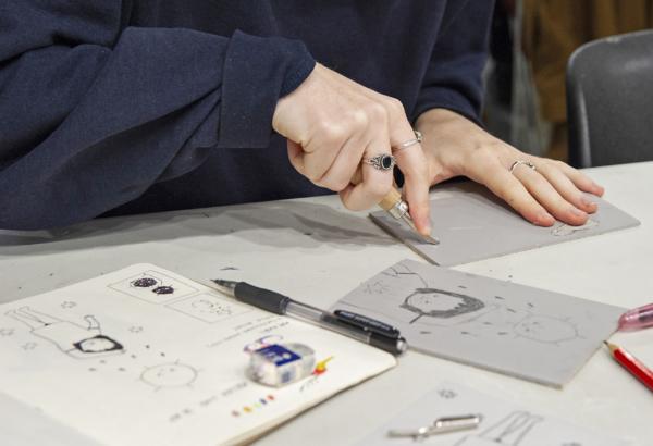 Atelier Linogravure du SoBD 2019